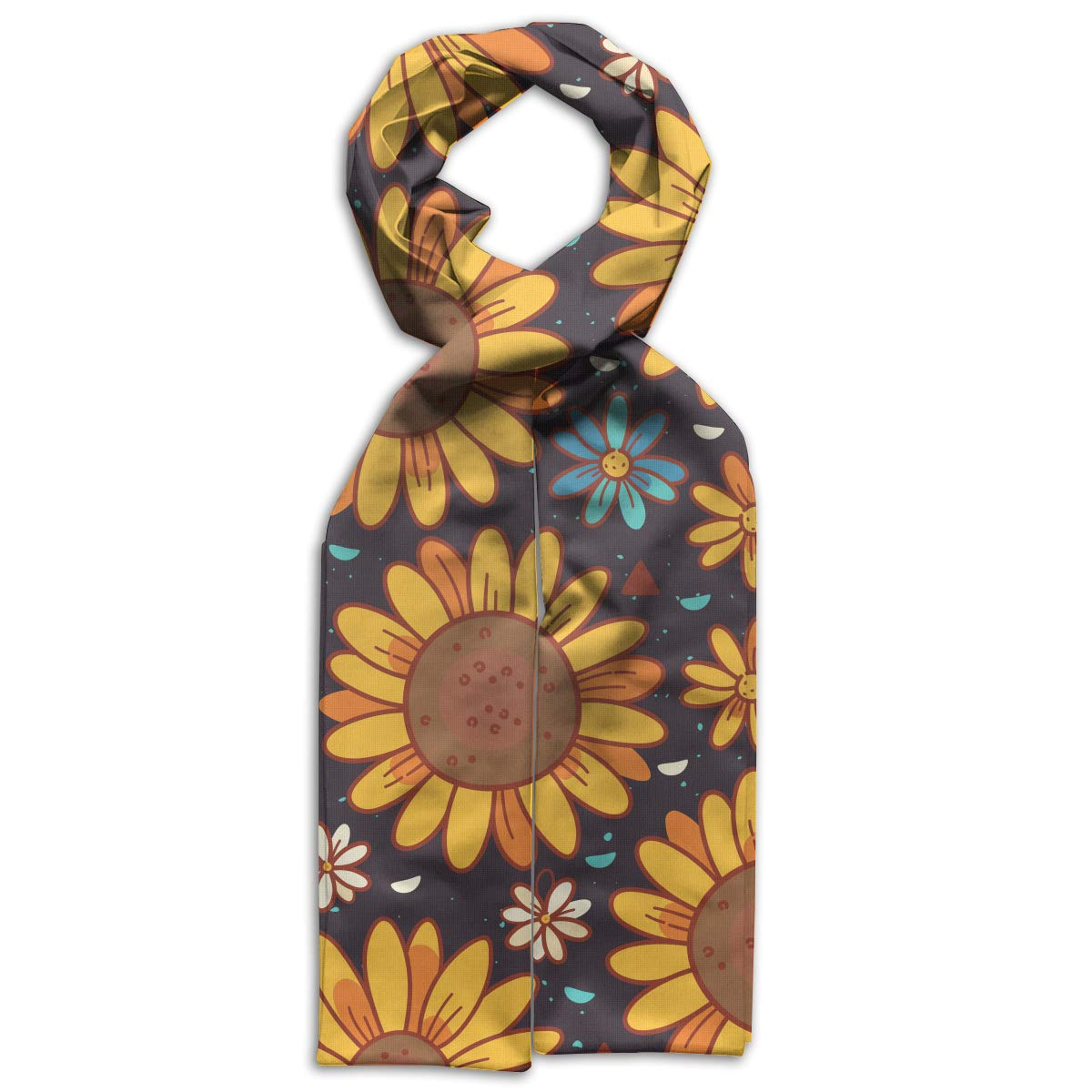 GQOP Kids Scarf Sunflowers Lightweight Long Scarf Shawl Warps