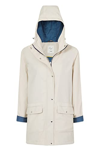 Charcoal Fashion - Abrigo impermeable - Parka - para mujer crema crema 36