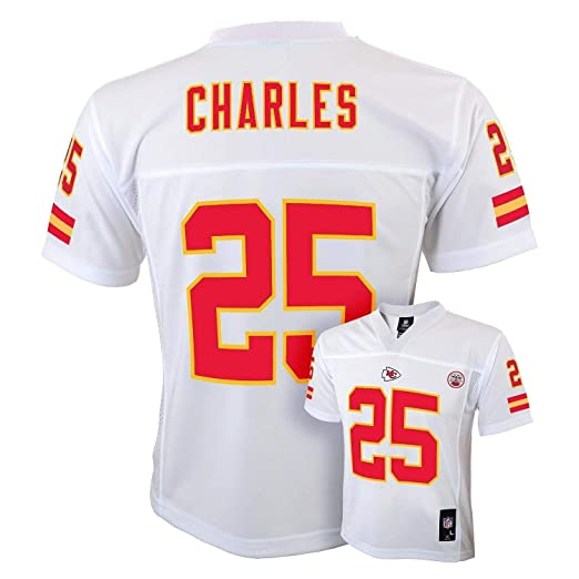 the latest d0e16 658a6 Outerstuff Jamaal Charles Kansas City Chiefs #25 White Youth Away Mid Tier  Jersey (X-Large 18/20)