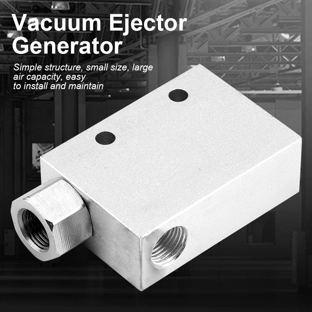 CV-10HS Vacuum Generator 1//8PT Female Thread Pneumatic Air Exhaust Vacuum Ejector Generator Air Fitting