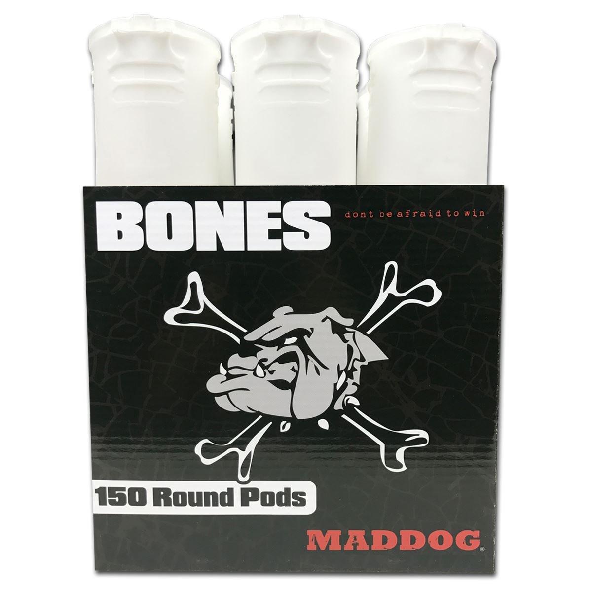 MAddog 150 Round Bones Paintball Pods - White - 6 Pack by MAddog