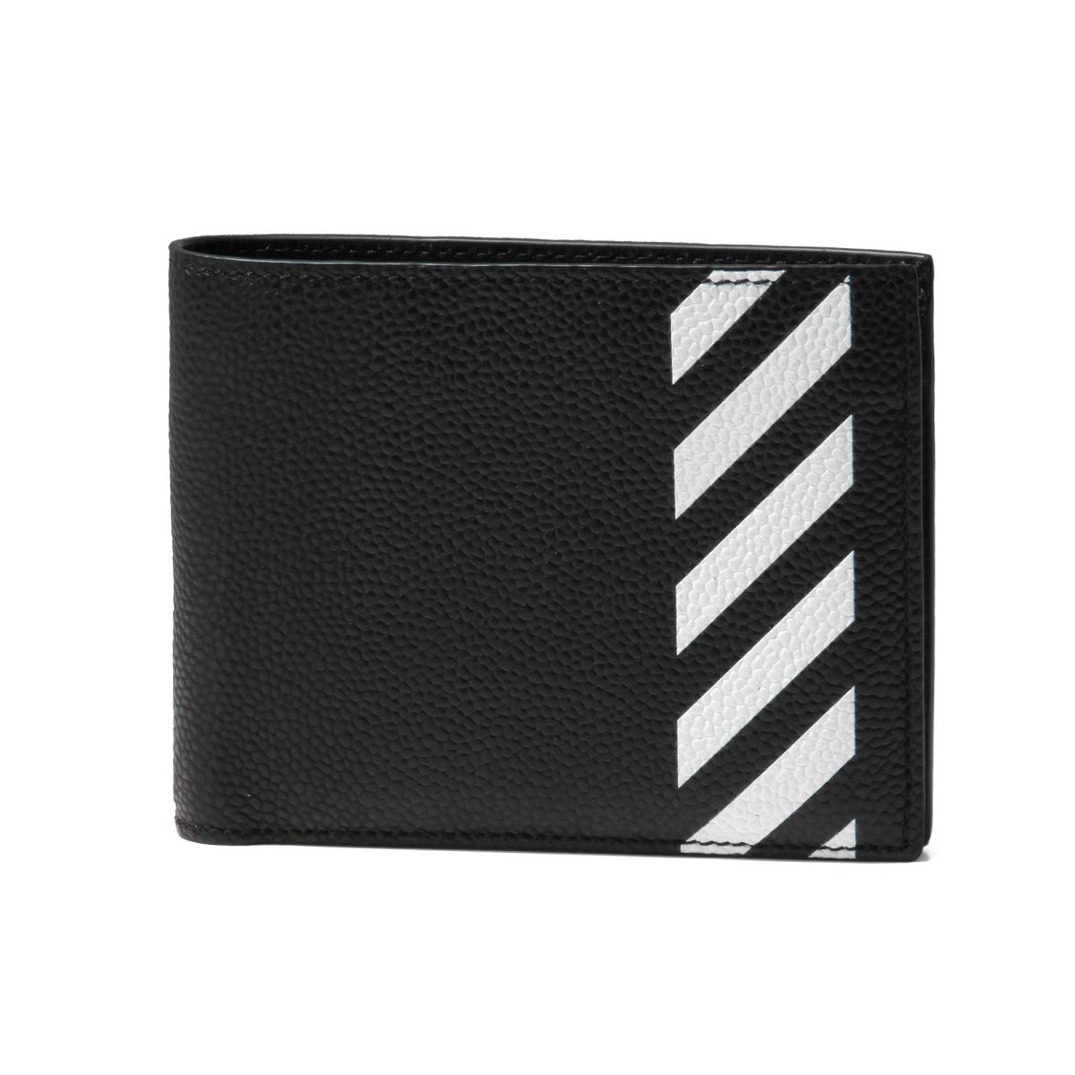 (オフ ホワイト) OFF-WHITE 二つ折り財布 DIAG ブラック OMNC008R19C440321001 [並行輸入品] B07QHCT92X