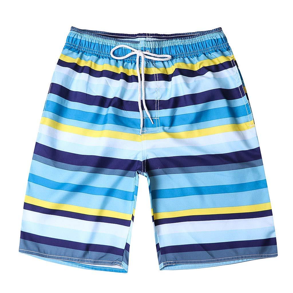 Shusuen Men's Yolo Quick Dry Beach Swim Trunk Summer Shorts