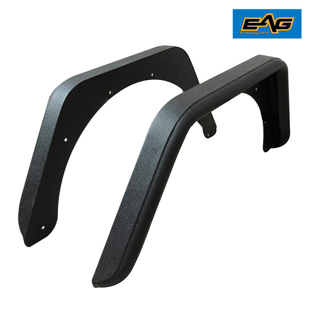 EAG Rear Fender Flares Armor Rocker Guards With Hardware Kit for 87-96 Jeep Wrangler YJ