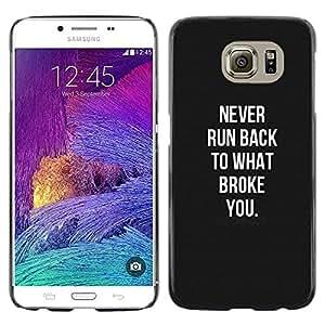Violencia Negro Blanco Recuerde Hurt- Metal de aluminio y de plástico duro Caja del teléfono - Negro - Samsung Galaxy S6