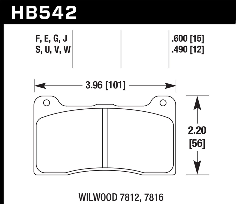 Hawk Performance HB130U1.018 Disc Brake Pad