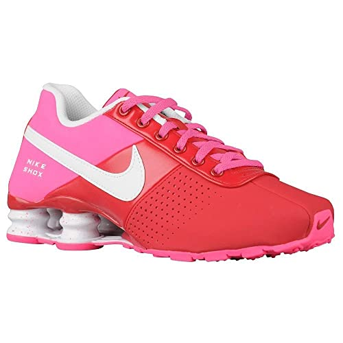 1db19d8971649c Nike Shox Deliver Running Shoes Red Pink White 616542-616 Size 5.5y Size 7  Womens  Amazon.ca  Shoes   Handbags