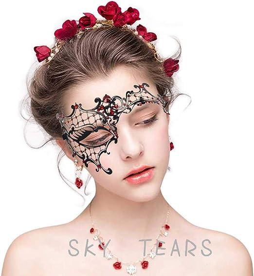 Máscara Gótica Estilo Veneciano sky tears
