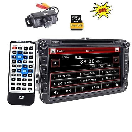 Doble DIN estéreo de 8 pulgadas pantalla táctil de DVD de coche en Dash GPS navegación ...