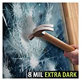 BDF S8MB05 Window Film Security and Privacy 8 Mil Black 05 (Very Dark) (60in X 98ft)