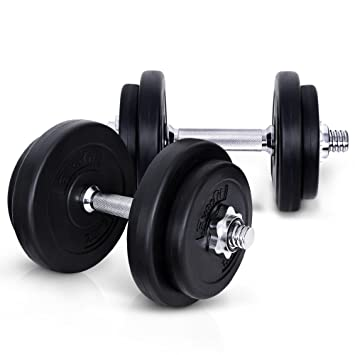 b06e2ba2991 Image Unavailable. 20KG Dumbbell Set Bumbbells Weights Plates Adjustable  Home Gym Fitness Exercise ...
