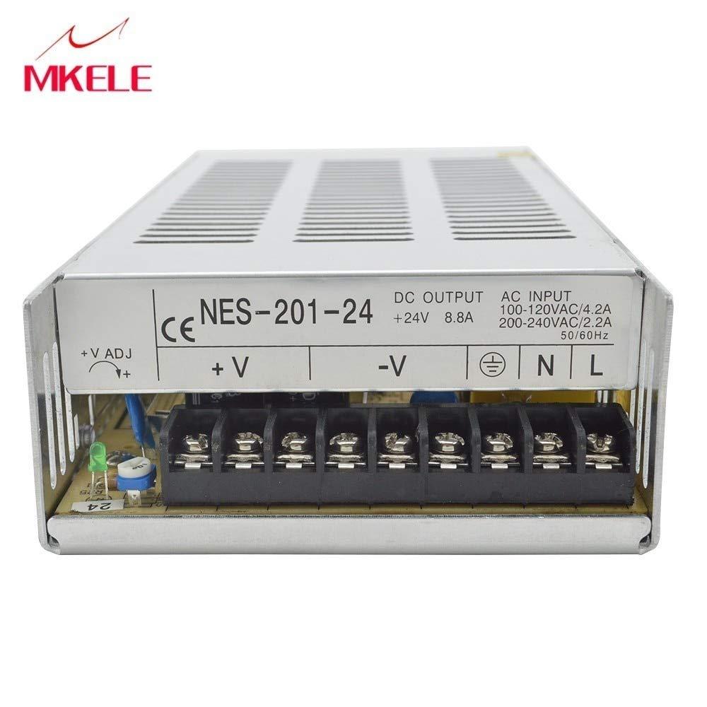 Utini Schakelende Voeding Aangepaste 7.5 V 27A 200 W NES-201-24 Voltage Converter Switching Power Supply for Mechanical Motor