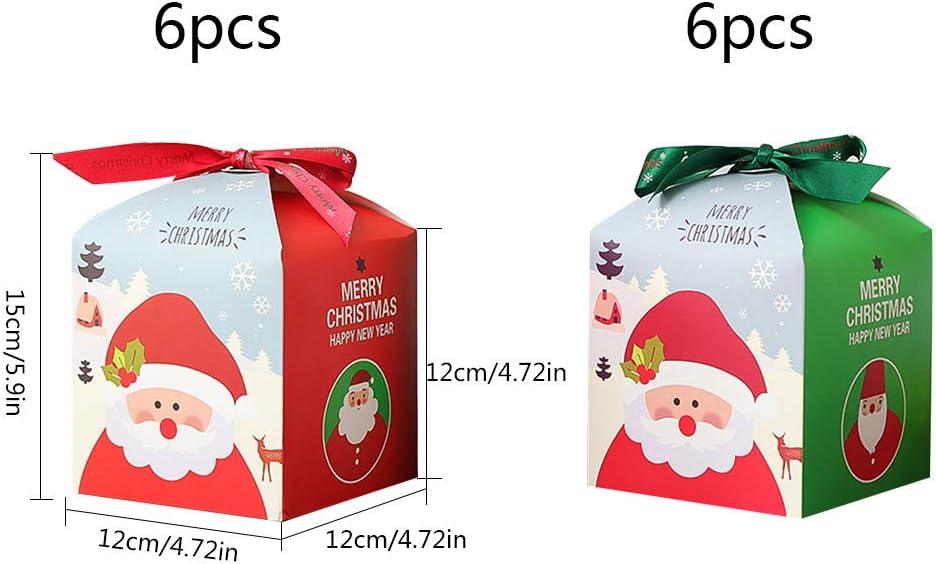 Bo/îtes cadeaux 12Pcs Boite Papier Kraft Marron No/ël d/écoratives papier no/ël cadeau de bricolage bo/îtes de g/âteaux bo/îtes de friandises d/écoratives bo/îtes de friandises,de g/âteaux,biscuits,cupcakes