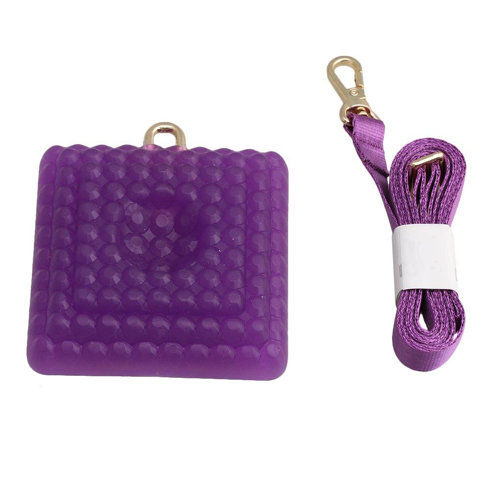 lovermusic Purple Silica Gel Cello Anti Slip Stopper End Pin Anchor Floor Protector