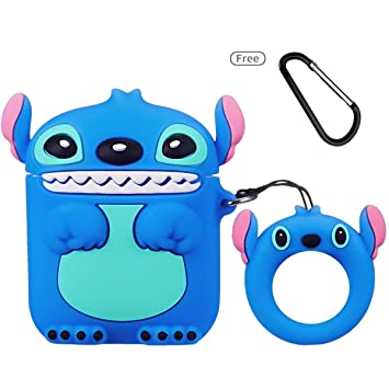 Leosimp for Airpods 1/2 Case,3D Lindo Cute Caricatura Cartoon Animal Moda Silicona Funda Airpod De Protección Protective Llavero Funda Air pods Caso ...