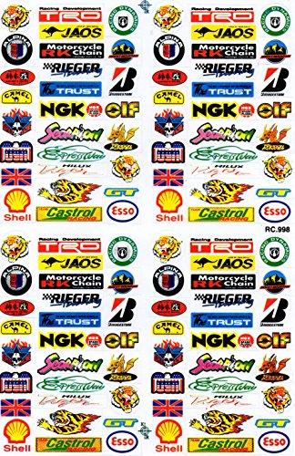 patrocinadores Sponsor - Decal Sticker Tuning Racing Tamaño de la hoja: 27 x 18 cm para coche o moto