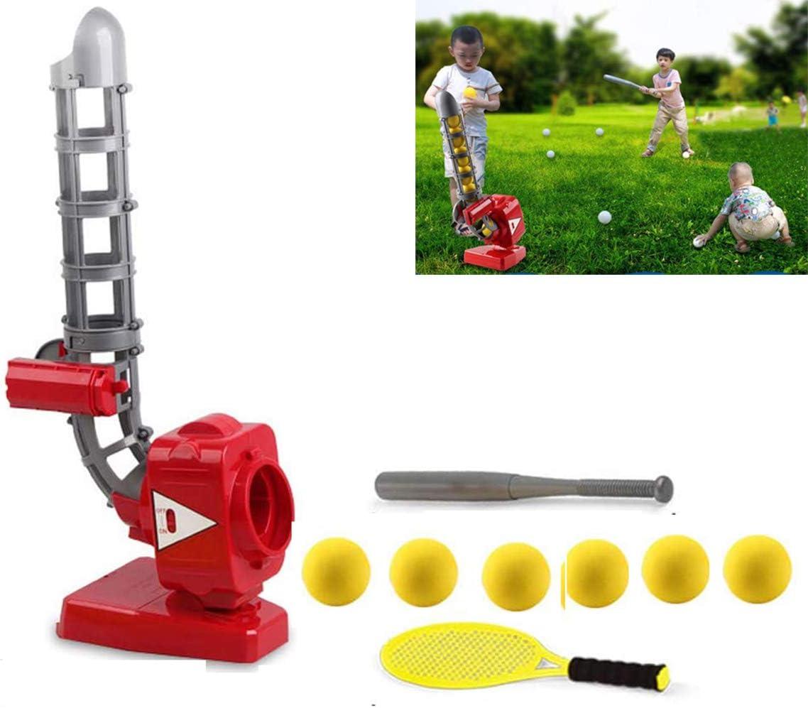 ZYT Los niños Tenis Trainer Juegos al Aire Libre, automático Ajustable 4 Ángulos Lanzador de béisbol para la Educación Ocio Equipo de Entrenamiento físico