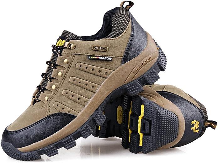 Minetom Scarpe da Trekking Uomo Donna,Impermeabile Scarpe da Escursionismo Arrampicata Stivali Unisex Resistente Traspirante Allacciatura Antiscivolo Sneakers Outdoor Scarpe