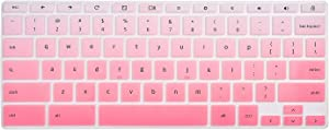 "HP Chromebook 14"" Keyboard Cover Skins Compatible with HP 2-in-1 14"" Touchscreen Chromebook,HP Chromebook X360 Touchscreen,HP Chromebook 14-DA 14B-CA Series(Ombre Pink)"