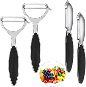 4 PCS Apple Peeler Potato Peelers Fruit Peeler Vegetable Peelers for Kitchen Fruit Vegetable Multi-Function Peeling