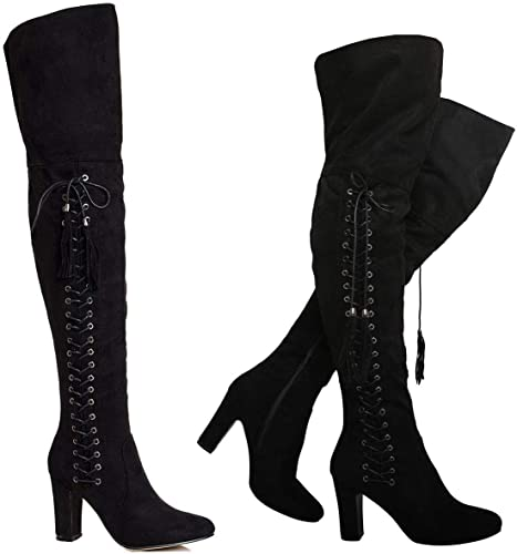 mid thigh boots