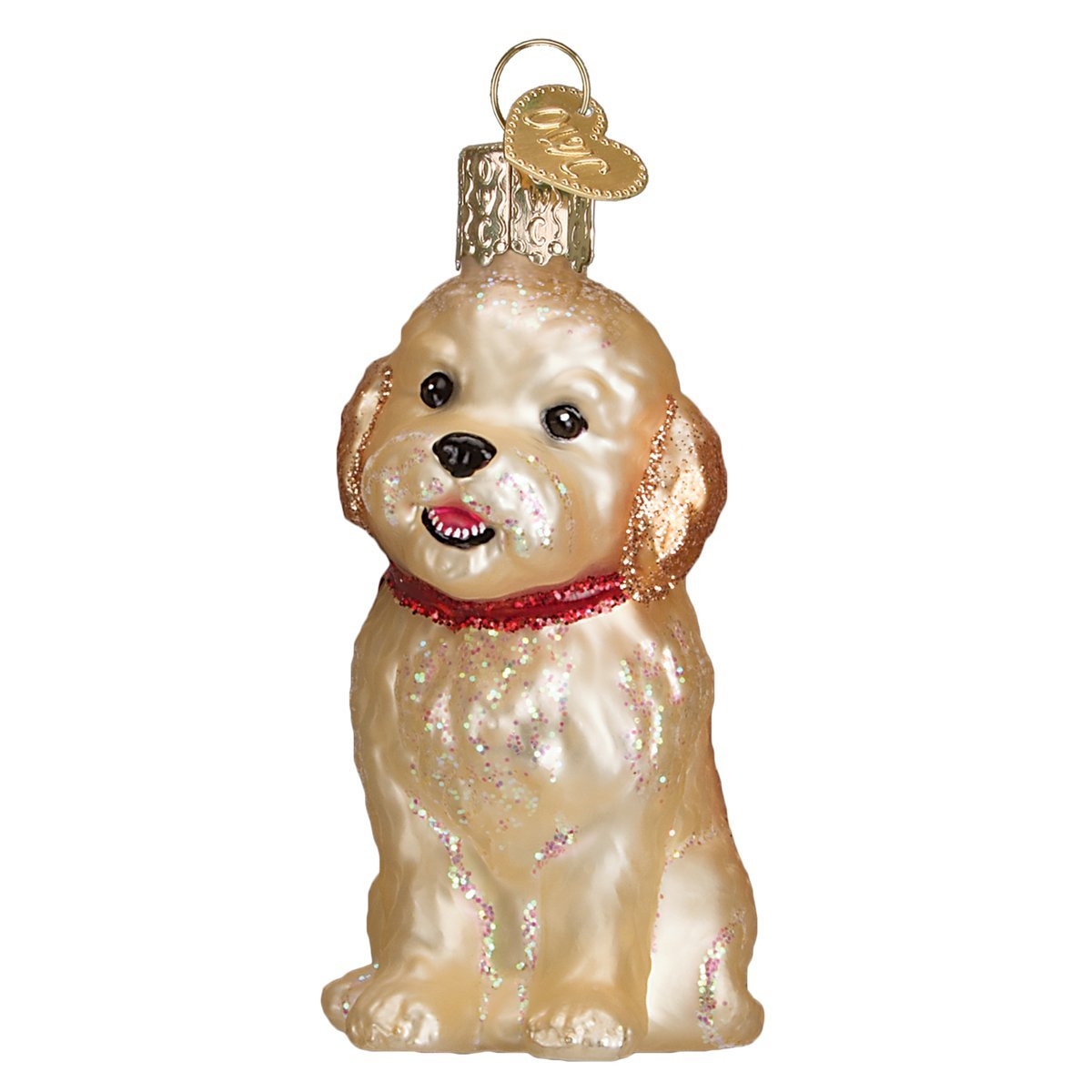 Old World Christmas Cockapoo Puppy Glass Blown Ornament