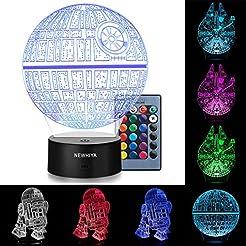 3D Illusion Star Wars Night Light, Three...