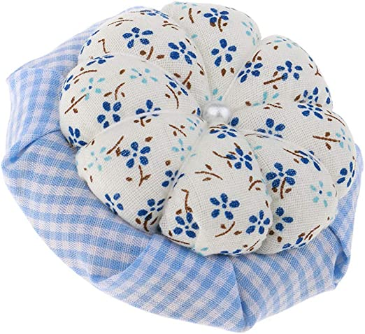 Cojines De Tela con Estilo De Base De Madera para Acolchar Y Coser, Cojín De Calabaza Precioso para Bordar Bordar Artesanías - Azul, 7,2 cm: Amazon.es: Hogar