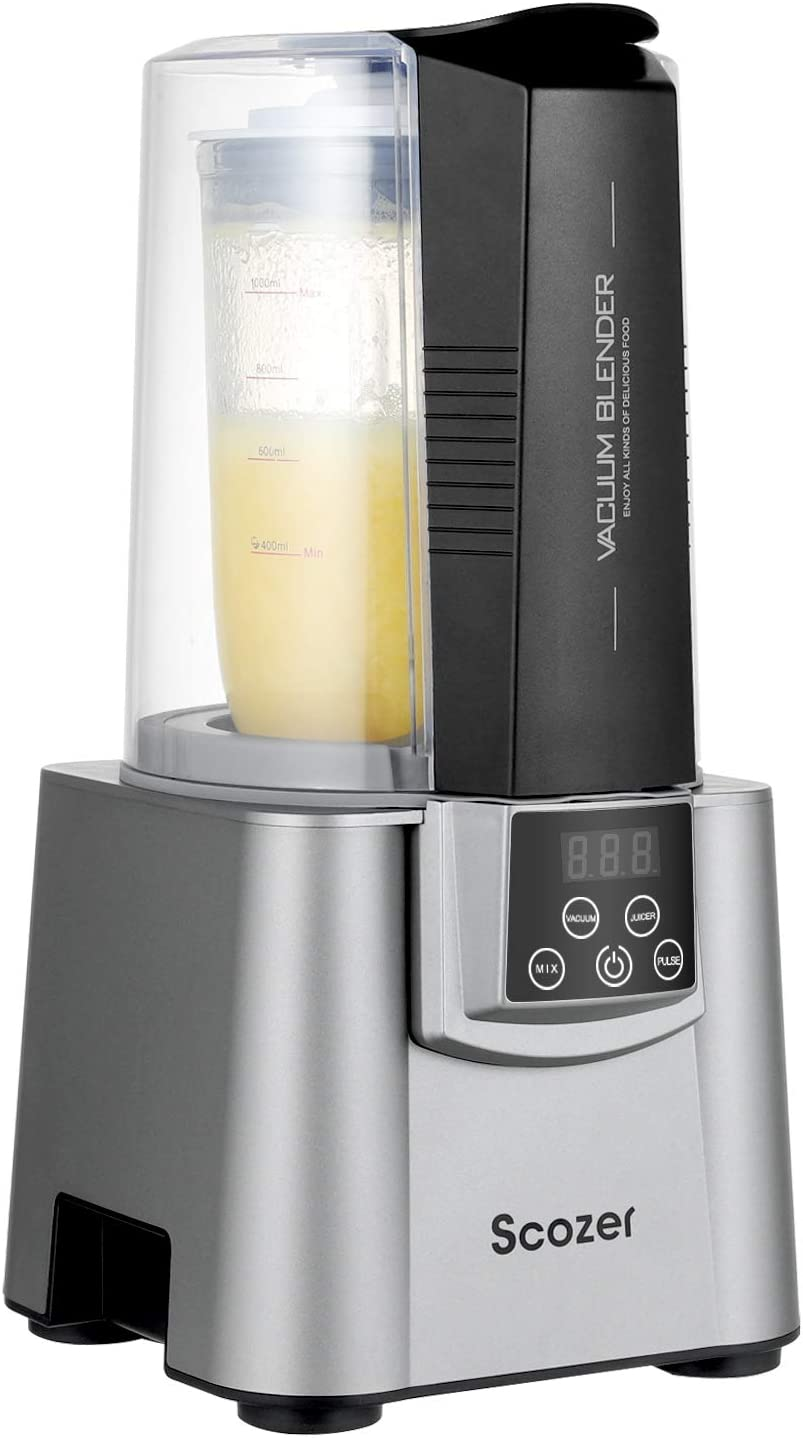 Vacuum Blender, Scozer Vacuum Juicer, 500W Professional Countertop Blender with Vacuum Function, BPA Free Vacuum Blender,21000RMP High Speed Smoothie Maker,Virtually No Foam