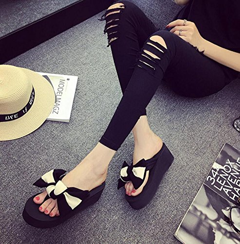KHSKX-Cool Slippers Female 6Cm Korean Version Of The Summer Fashion Through The Hill With Sandy Beach Personality And Versatile Anti-Slip By Field And 35 1hHKpp3d