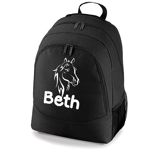 iClobber GTR- nombre Pony - Mochila escolar bolsa sillín de caballo sombrero niña cumpleaños estable caja Negro negro: Amazon.es: Zapatos y complementos