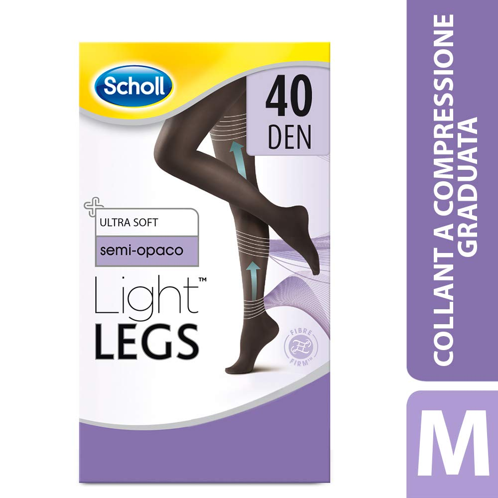 M 1 Paio Scholl Light Legs Collant Donna Compressione Graduata 20 Den Nero