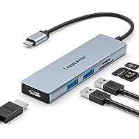 Lemorele Hub USB C HDMI 4K - 6 en 1, Adaptador USB C Hub con 2 USB 3.0, SD/TF, USB C Adaptador MacBook Pro/Air M1, iPad…