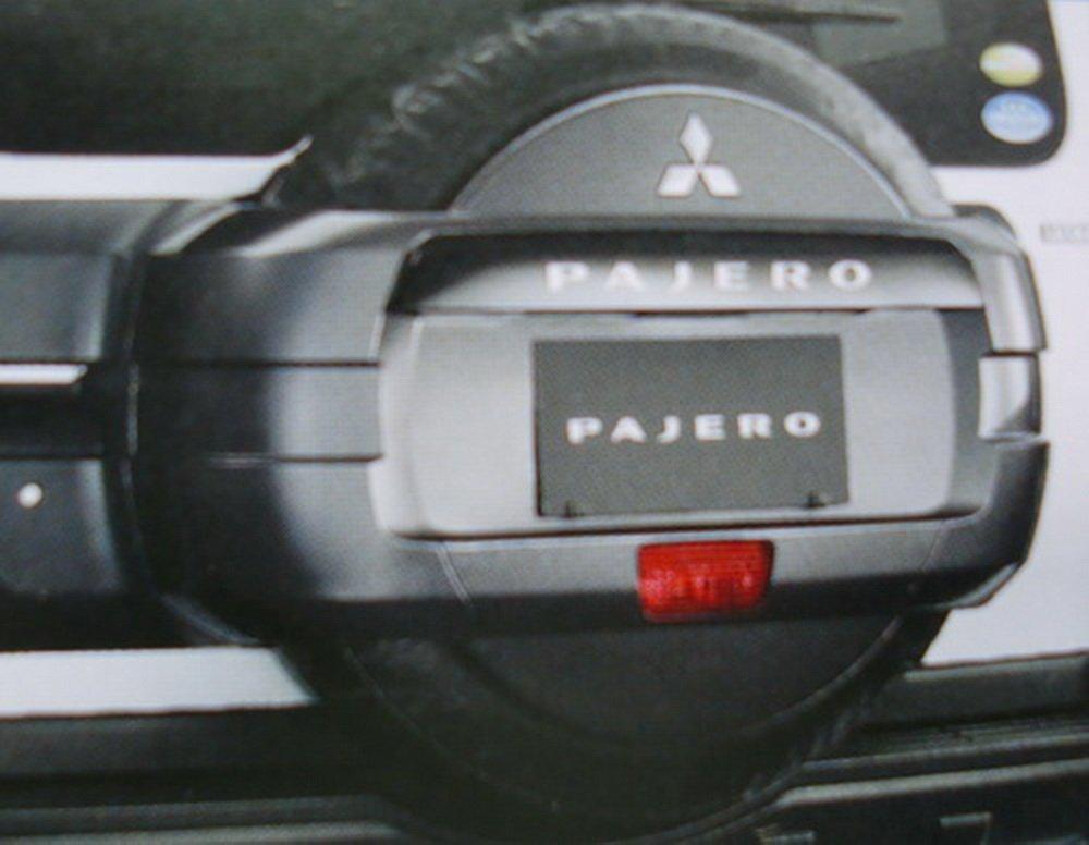 スペアタイヤカバー 国内三菱純正OP パジェロ MITSUBISHI PAJERO (V80/90系) B07D356DML
