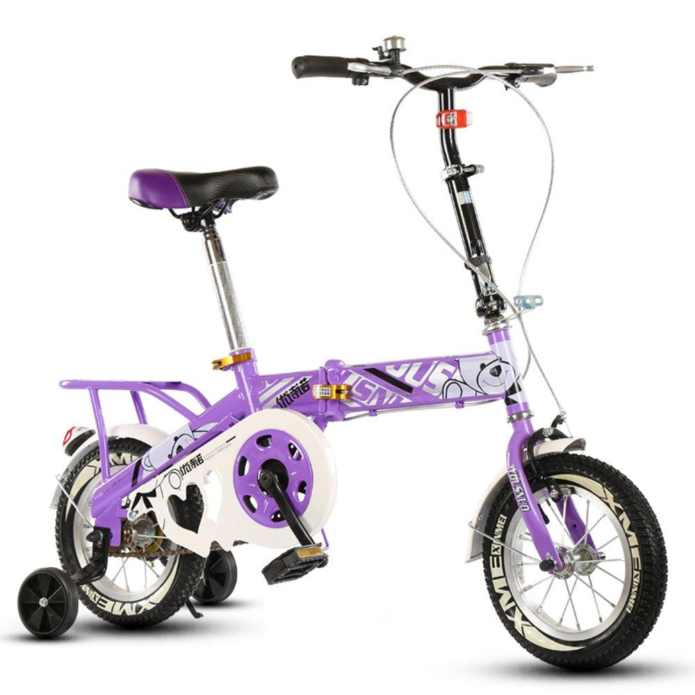 子供の折りたたみ自転車、12-14-16-20インチの男子学生自転車6-8-10-12歳の乳母車 ( 色 : Purple-B , サイズ さいず : 20 inch ) B07CNSN4DC 20 inch|Purple-B Purple-B 20 inch