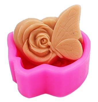 Flores de mariposa 50315 manualidades Arte silicona jabón molde Craft moldes DIY moldes de jabón hecho a mano: Amazon.es: Hogar