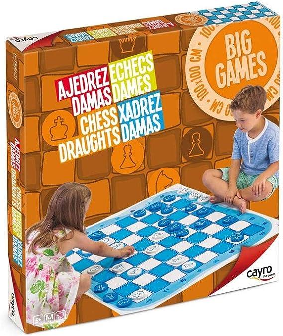 Cayro - Ajedrez y Damas Gigante Kids— Juego de observación y lógica - Juego de Suelo - Desarrollo de Habilidades cognitivas e inteligencias múltiples - Juego Gigante (159): Amazon.es: Juguetes y juegos