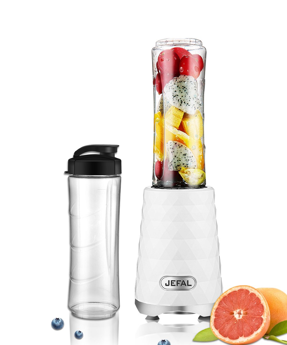 JEFAL Personal Blender, Travel Blender for Single Served, Small Blender for Shakes and Smoothies Stronger and Faster ,Diamond White
