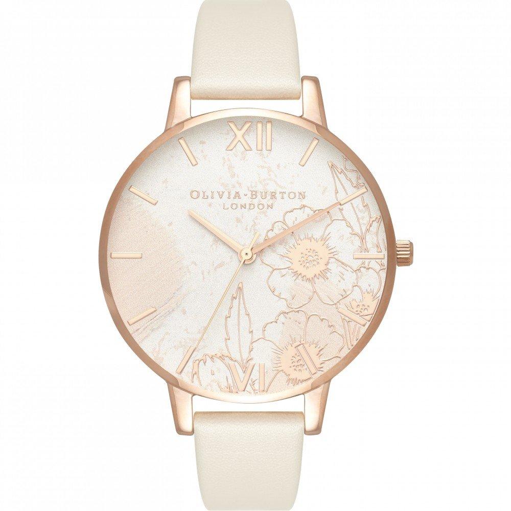 Reloj de mujer Olivia Burton OB16VM25 de piel vegana nude: Amazon.es: Relojes