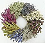 THE GATHERING GARDEN Sweet Country Wheel. Dried Flower Wreath 19 Inch