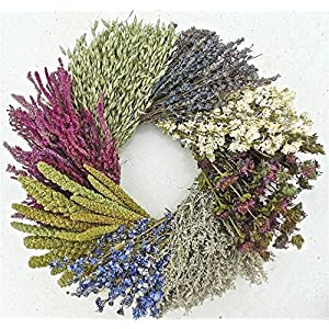 THE GATHERING GARDEN Sweet Country Wheel. Dried Flower Wreath 19 Inch 32