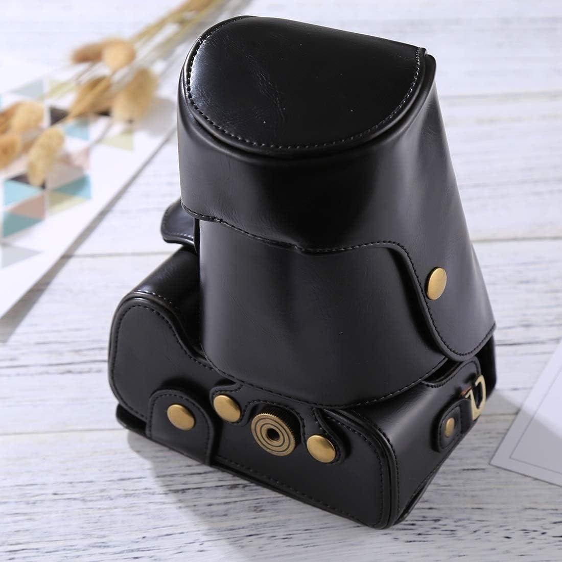 XulilinQ Camera Bag Good Body Camera PU Leather Case Bag for Nikon D5300 // D5200 // D5100 Color : Black Black 18-55mm // 18-105mm // 18-140mm Lens