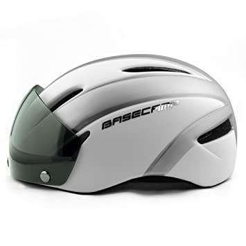 Basecamp Zoom Cascos ciclismo con visera protectora removible (Plateado Mate)