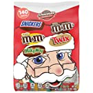 M&M'S, SNICKERS, TWIX & MILK WAY Fun Size & Minis Size Chocolate Christmas Candy Variety Mix, 140 Pieces