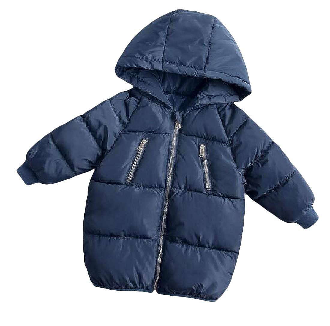 JuJuTa Girl Zip-Up Hooded Winter Down Bubble Thick Parka Jackets Coat