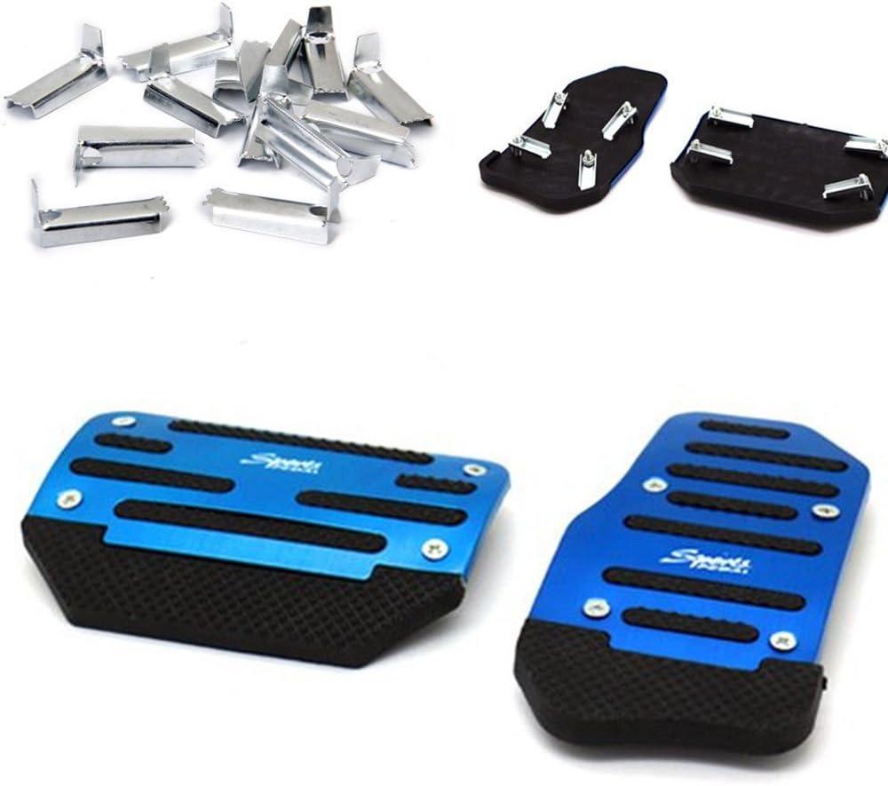 Ronben 2Pcs Blue Non-Slip Automatic Car SUV Treadle Brake Accelerator Foot Pedal Pad Blue