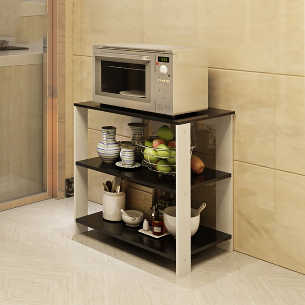 Chen Dos capas Estante de madera de la cocina Almacenaje del ...