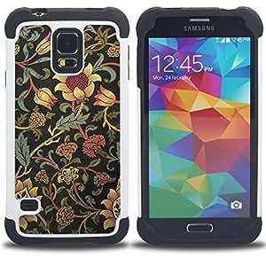 For Samsung Galaxy S5 I9600 G9009 G9008V - sunflower rustic wallpaper floral Dual Layer caso de Shell HUELGA Impacto pata de cabra con im??genes gr??ficas Steam - Funny Shop -