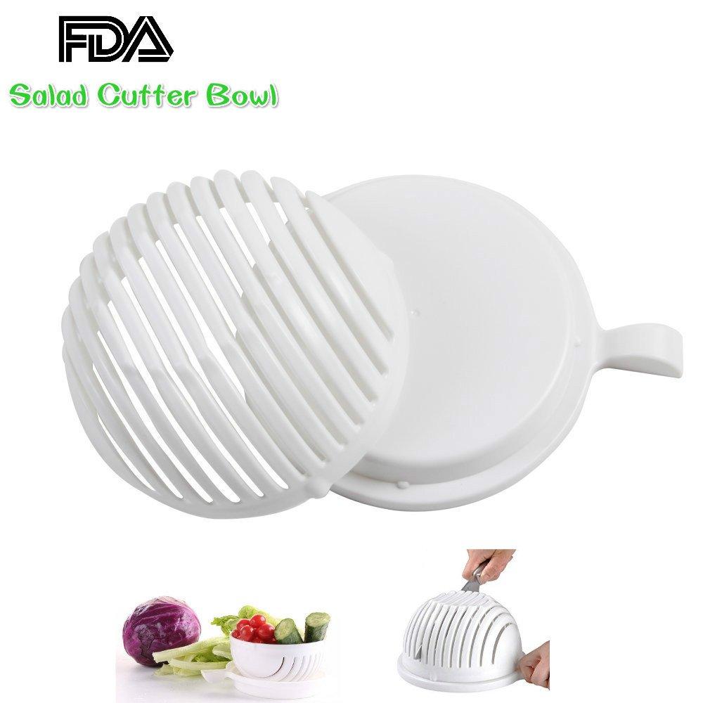 Amazon.com | Salad Cutter Bowl, Vegetable Cutter Bowl - Make Your ...
