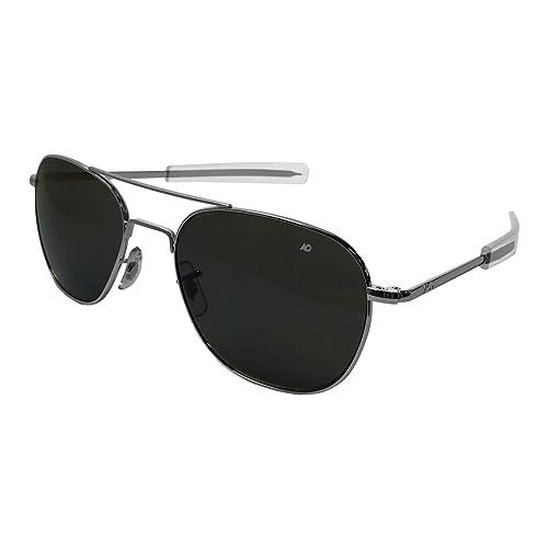 Ao Original piloto gafas de sol, plata, bayoneta, CC gris ...